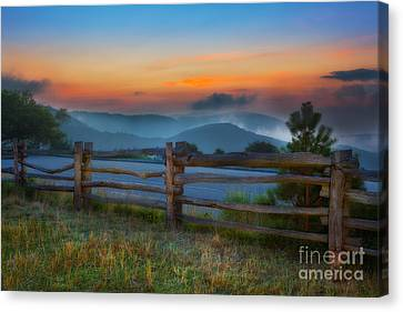 A New Beginning - Blue Ridge Parkway Sunrise I Canvas Print by Dan Carmichael