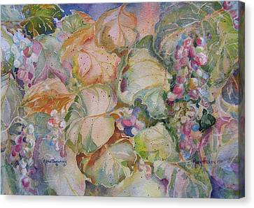 Canvas Print featuring the painting A New Beginning by Mary Haley-Rocks