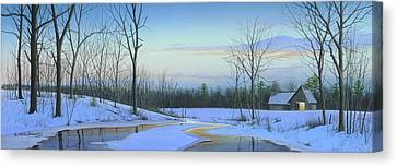 Canvas Print featuring the painting A New Dawn by Mike Brown