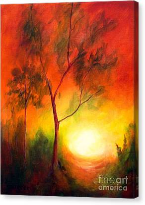 Canvas Print featuring the painting A New Day by Alison Caltrider