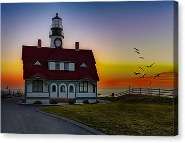 A New Day At Portland Head Light Canvas Print by Susan Candelario