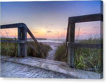 A New Day Canvas Print by Debra and Dave Vanderlaan