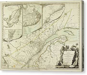 A New Map Of The Province Of Quebec Canvas Print by British Library