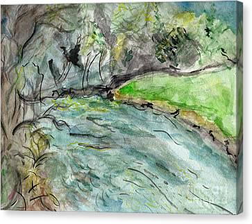 Ashe Canvas Print - Spring River Morning by Elizabeth Briggs