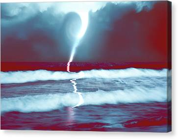 Phenomenon Above The Sea Continues Canvas Print by Kellice Swaggerty