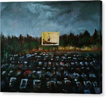 A Night At The Drive In Canvas Print by Frances Marino