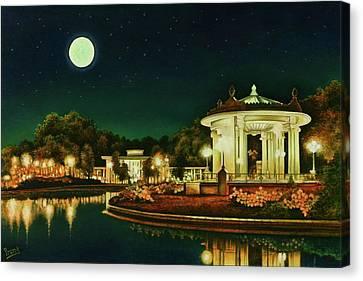 Canvas Print featuring the painting A Night At The Muny by Michael Frank
