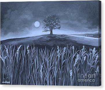 A Night At The Plains Canvas Print by Nereida Rodriguez
