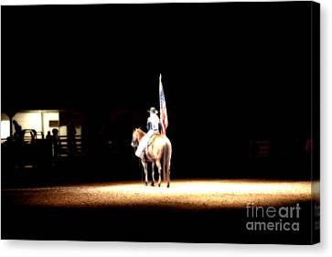 A Night At The Rodeo Canvas Print by Douglas Barnard