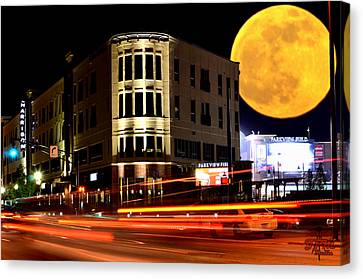 A Night Downtown Canvas Print