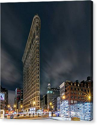 Canvas Print featuring the photograph A Night In Nyc by Anthony Fields