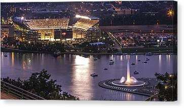 Upmc Canvas Print - A Night On The Rivers by Jennifer Grover
