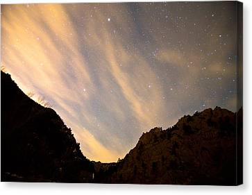 A Night Up The Canyon Canvas Print