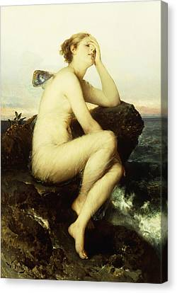 A Nymph By The Sea Canvas Print by Wilhelm Kray