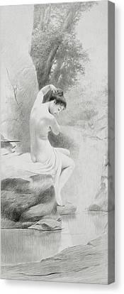 A Nymph Canvas Print by Charles Prosper Sainton