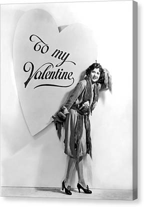 A Oversized Valentine Canvas Print by Underwood Archives