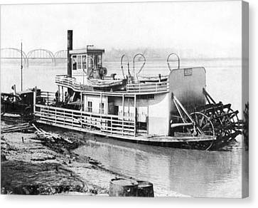A Paddlewheel Ferry Boat Canvas Print by Underwood Archives