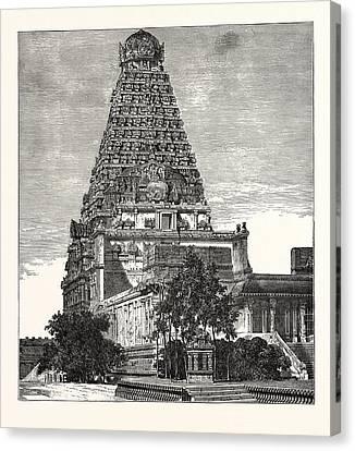 A Pagoda At Tanjore Canvas Print
