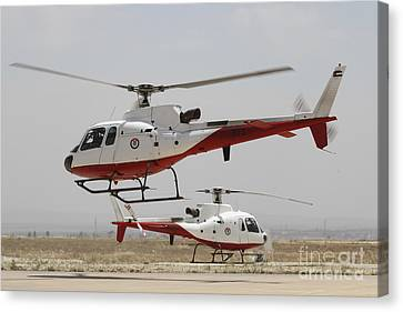 A Pair Of As350 Squirrel Helicopters Canvas Print by Ofer Zidon
