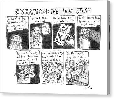 A Panel Called Creation: The True Story Which Canvas Print