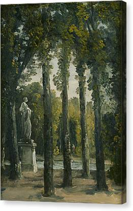 A Park Canvas Print by French School