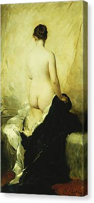 A Partially Draped Nude Canvas Print by Charles Chaplin