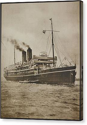 A Passenger Steamer. The S.s. Morea Canvas Print