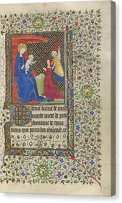 1420 Canvas Print - A Patron Presented To The Virgin And Child Workshop by Litz Collection