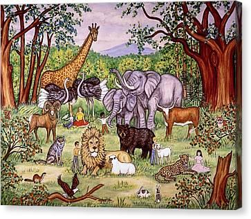 A Peaceable Kingdom Canvas Print by Linda Mears