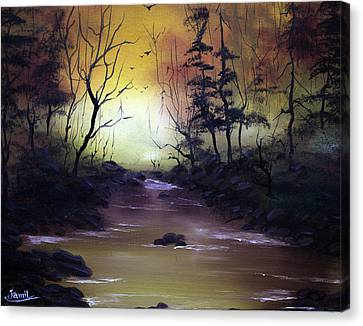 A Peaceful Evening Canvas Print by Jamil Alkhoury