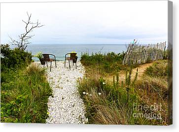A Peaceful Respite By The Shore Canvas Print by Michelle Wiarda