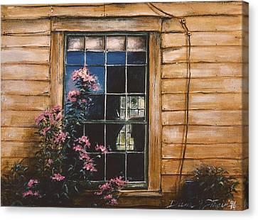 A Peek Through The Window Canvas Print