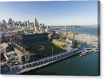 Sf Giants Canvas Print - A Perfect Day On The Bay by David Levy