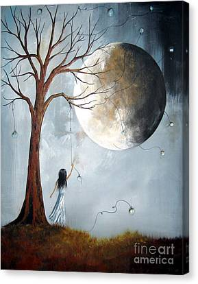 Big Moon Canvas Print - Serene Art Print By Shawna Erback by Shawna Erback
