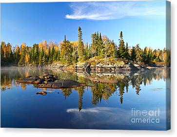 A Perfect Fall Day In Bwca Canvas Print by Radiant Spirit Gallery