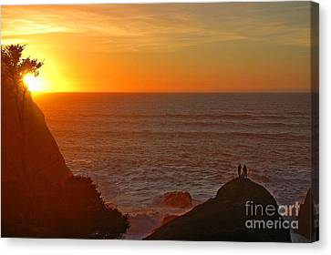 Canvas Print featuring the photograph A Perfect Time by Nick  Boren
