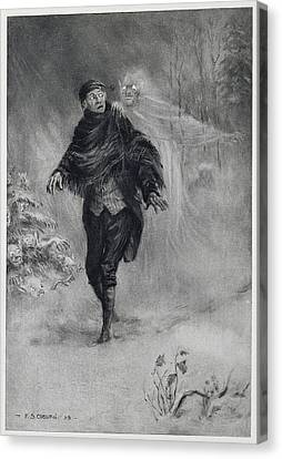 Ghost Story Canvas Print - A Phantom At His Shoulder by MotionAge Designs