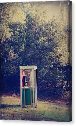 A Phone In A Booth? Canvas Print by Laurie Search