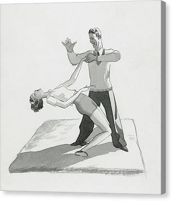 A Physical Instructor Giving A Lesson Canvas Print