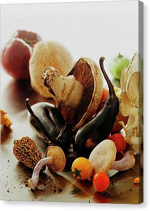 Fungus Canvas Print - A Pile Of Vegetables by Romulo Yanes
