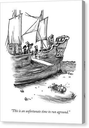 A Pirate Shit Stuck On Land Canvas Print