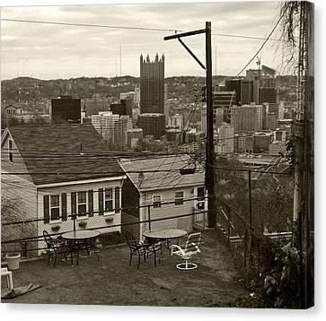 A Pittsburgh Backyard Canvas Print by Joyce  Wasser