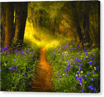 Pathway Canvas Print - A Place In The Sun - Impressionism by Georgiana Romanovna