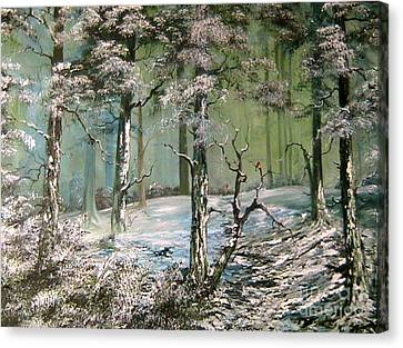 Cannock Chase Canvas Print - A Place To Shelter by Jean Walker