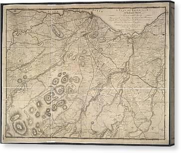 A Plan Of Edinburgh Canvas Print by British Library
