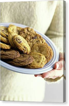 A Plate Of Cookies Canvas Print by Romulo Yanes