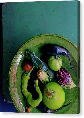 Mushroom Canvas Print - A Plate Of Vegetables by Romulo Yanes