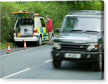 A Police Speed Camera Canvas Print