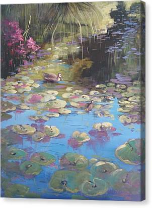 A Pond Reflection Canvas Print