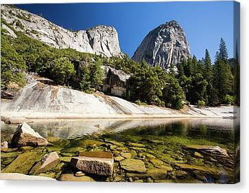 A Pool Above The Nevada Fall Canvas Print by Ashley Cooper